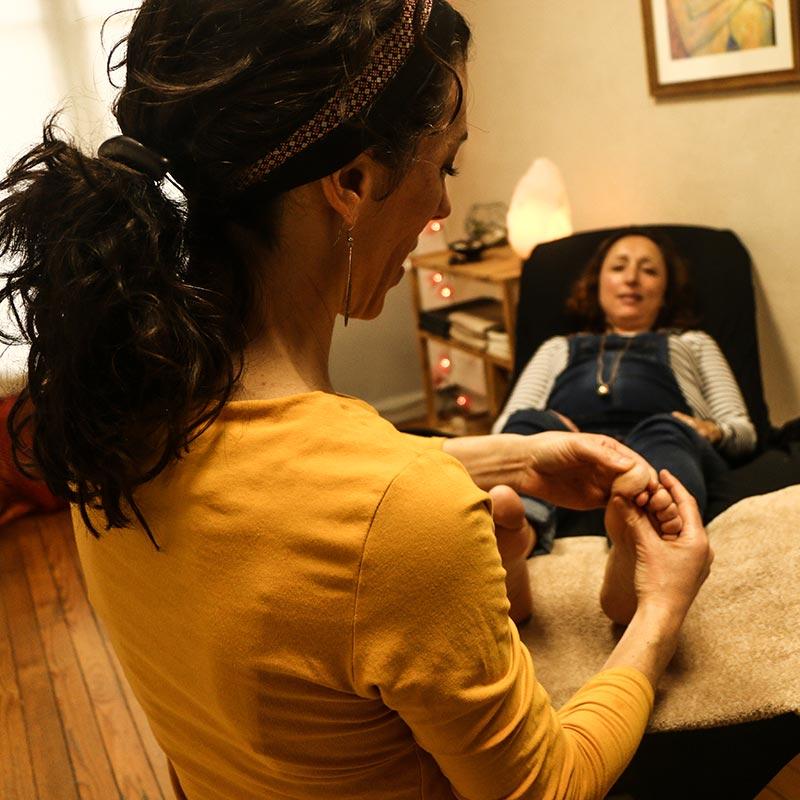 Réflexologie femme enceinte