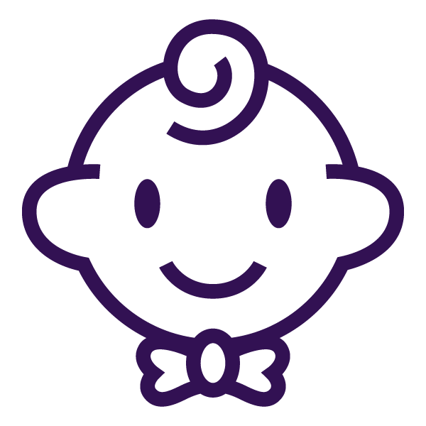 icone reflexo bebe